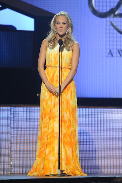 Carrie Underwood in Pamella Roland