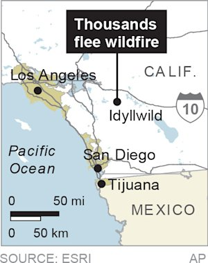 Map locates Idyllwild where 6,000 people were forced …