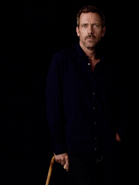 Hugh Laurie stars as Dr. Gregory House in House.