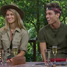 Joey and Amy in SHOCK I'm a Celeb exit