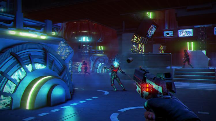 "This video game image released by Ubisoft shows a scene from ""Far Cry 3: Blood Dragon."" (AP Photo/Ubisoft)"
