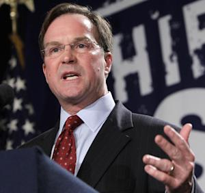 FILE - In this Nov. 2, 2010 file photo, Michigan Attorney General-elect Bill Schuette speaks in Detroit on election night. The Supreme Court is broadening its examination of affirmative action by adding a case about Michigan's effort to ban consideration of race in college admissions. The court on Monday said it would add the Michigan case, which focuses on the 6-year-old voter-approved prohibition on affirmative action and the appeals court ruling that overturned the ban. The new case will be argued in the fall. A decision in the Texas case is expected by late June. (AP Photo/Carlos Osorio, File)