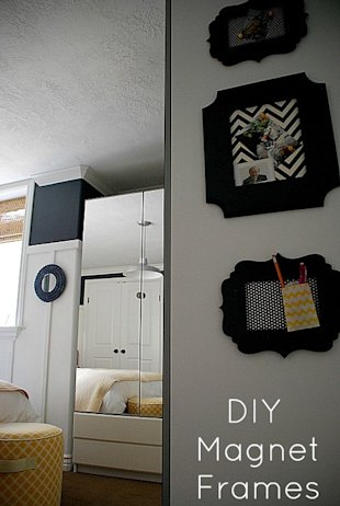 How to Turn a Picture Frame into a Magnet Board