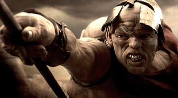 Andrew Tiernan as the misshapen Ephialtes in Warner Bros. Pictures' 300