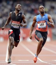 US sprinters Tyson Gay and Justin Gatlin are seen competing in the 100m event of the IAAF Diamond League athletics Areva meeting in Saint-Denis, on July 6. Both are part of the US team at the London 2012 Olympics, seeking to reclaim the sprinting mantle long held by Americans