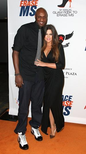 Lamar Odom and Khloe Kardashian attend the 19th Annual Race To Erase MS - 'Glam Rock To Erase MS' event at the Hyatt Regency Century Plaza in Century City, Calif., on May 18, 2012 -- Getty Images