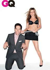 Jennifer y sus abs con Paul Rudd/ GQ
