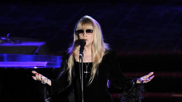 Singer Stevie Nicks performs at the 2012 Songwriters Hall of Fame induction and awards gala at the Marriott Marquis Hotel, Thursday June 14, 2012 in New York. (Photo by Evan Agostini/Invision)