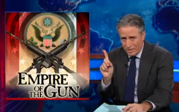 Jon Stewart Says GOP Opposition to UN Arms Treaty Is Pro-Bond Villain