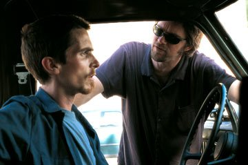 Christian Bale and director Brad Anderson filming Pararmount Classics' The Machinist