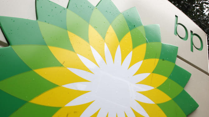 """FILE - In this file photo made Oct. 25, 2007, the BP (British Petroleum) logo is seen at a gas station in Washington. British oil company BP said Thursday Nov. 15, 2012 it is in advanced talks with U.S. agencies about settling criminal and other claims from the Gulf of Mexico well blowout two years ago. In a statement, BP said """"no final agreement has yet been reached"""" and that any such deal would still be subject to court approvals.  (AP Photo/Charles Dharapak, File)"""