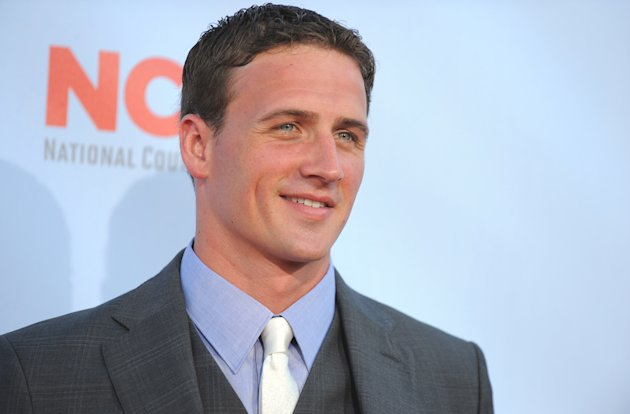 FILE - In this Sunday, Sept. 16, 2012 file photo, Ryan Lochte arrives at the ALMA Awards in Pasadena, Calif. With his camera-ready good looks, quirky catchphrases and funky fashion choices, swimmer Ryan Lochte parlayed the five medals he won at the 2012 Olympic Games into a bourgeoning media career. (Photo by Jordan Strauss/Invision/AP, File)