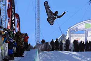 Shaun White, seen in action during the men's snowboard…