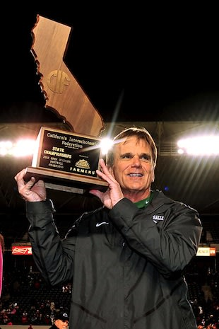 Bob Ladoucer, the legendary coach whose role is being filled by Jim Caviziel — AP