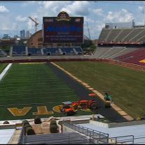 Grass Covers TCF Bank Stadium For Int'l Soccer