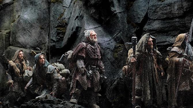 """FILE - This publicity file photo released by Warner Bros., shows from left, Dean O'Gorman as Fili, Aidan Turner as Kili, Mark Hadlow as Dori, Jed Brophy as Nori and William Kircher as Bifur in a scene from the fantasy adventure """"The Hobbit: An Unexpected Journey."""" Dolby Laboratories Inc. and director Peter Jackson's Park Road Post Production announced Wednesday, Oct. 24, 2012 that """"The Hobbit: An Unexpected Journey"""" will be mixed and released in Dolby Atmos. The first of three films in """"The Hobbit"""" series is slated to be released Dec. 14, 2012. (AP Photo/Warner Bros., File)"""