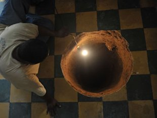 A sinkhole formed in a house on July 19, 2011 in the north of Guatemala City