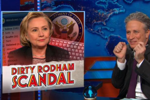 Jon Stewart Shrugs Off 'Future President' Hillary Clinton's Email Scandal (Video)