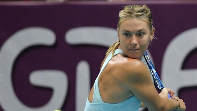 Russia's Maria Sharapova at the WTA Paris Open (AFP)