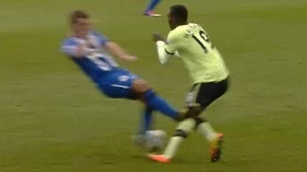 Callum McManaman - horror tackle