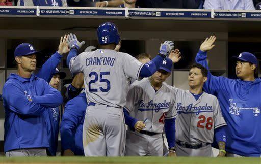 Crawford, Ellis back Billingsley as Dodgers win