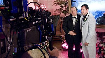Kevin James and Adam Sandler in Universal Pictures' I Now Pronounce You Chuck & Larry
