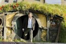 New Zealand director Jackson emerges from a 'Hobbit Hole' to make an address at the world premiere of 'The Hobbit - An Unexpected Journey' in Wellington
