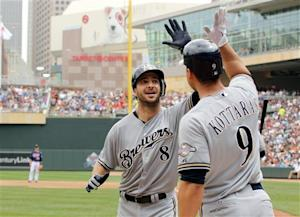 Braun hits 2 of Brewers' 4 HRs in win over Twins