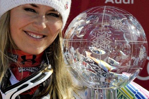 US skier Lindsey Vonn has proved to be the season's big star once again