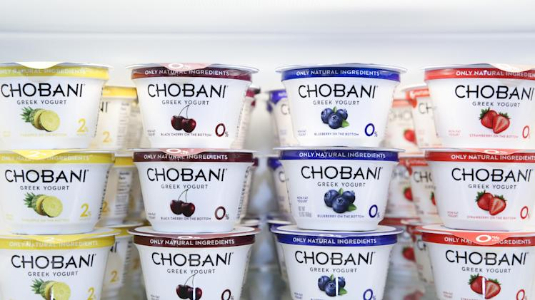 Chobani Greek Yogurt at the Chobani SoHo Café on Thursday, April 24, 2014, in New York. (John Minchillo/AP Images for Chobani)