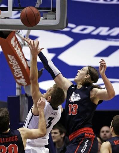 No. 2 Gonzaga survives scare from BYU 70-65