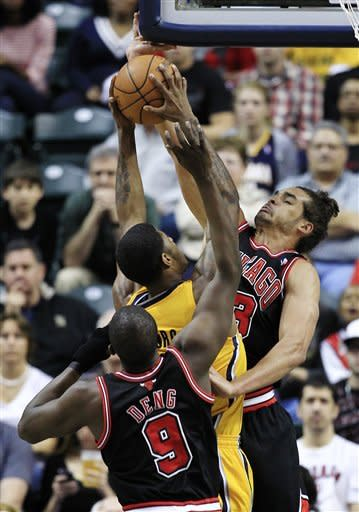 Korver leads Bulls past Pacers 92-87