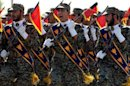 Iran's elite Revolutionary Guards march during an annual military parade