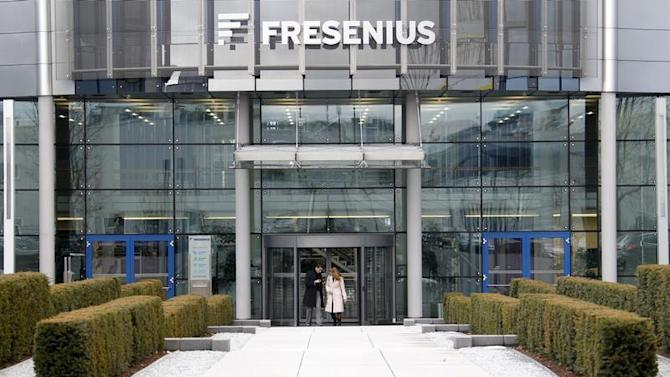 The headquarters of Fresenius is pictured in Bad Homburg near Frankfurt