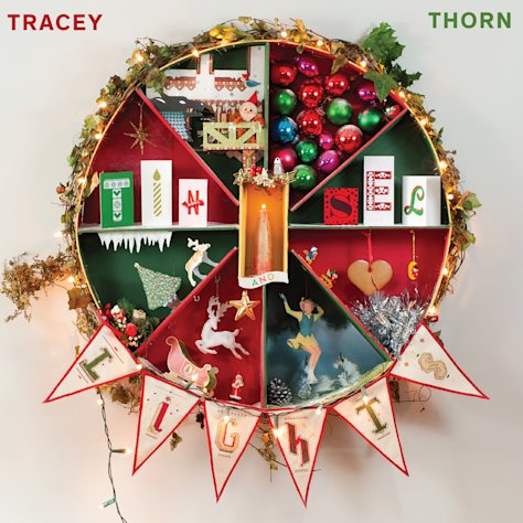 "This CD cover image released by Merge Records shows the latest release by Tracey Thorn ""Tinsel and Lights."" (AP Photo/Merge Records)"