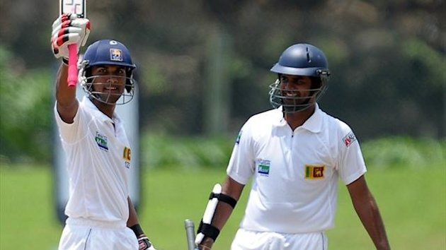 Lahiru Thirimanne and Dinesh Chandimal of Sri Lanka (AFP)