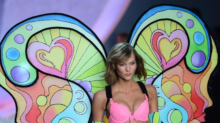 Karlie Kloss on the runway at the 2013 Victoria's Secret show