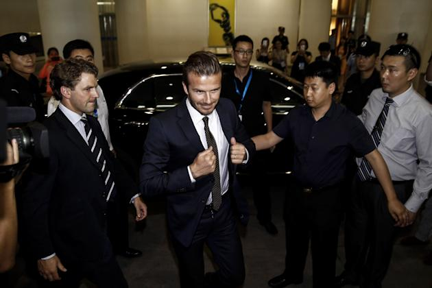 David Beckham Visits China - Day 2