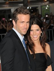"Ryan Reynolds and Sandra Bullock are all smiles at the premiere of ""The Change-Up"" held at the Regency Village Theatre in Los Angeles on August 1, 2011 -- Getty Images"