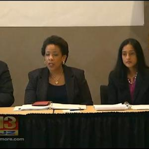 Attorney General Lynch Meets Gray Family In Baltimore