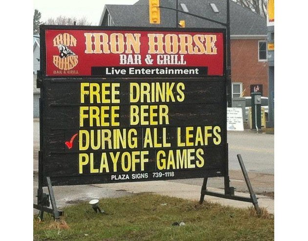What Happened To All That Free Beer During Leafs Playoff Games, Eh Ontario Bars?