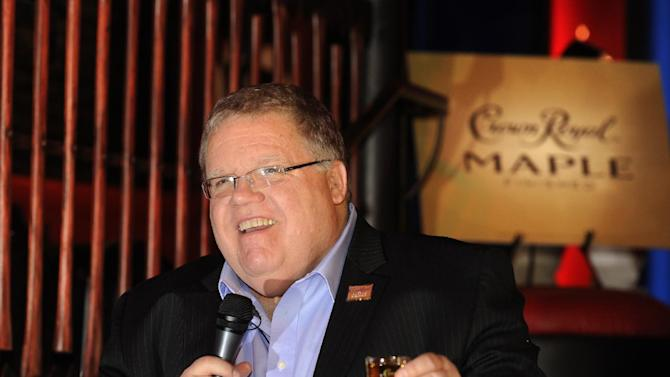 IMAGE DISTRIBUTED FOR CROWN ROYAL - Master of Whisky Steve Beal raises a toast at the Crown Royal Maple Finished Denver Launch party at Double Daughters Salotto, Tuesday, Jan. 22, 2013, in Denver. (Jack Dempsey/AP Images for Crown Royal)
