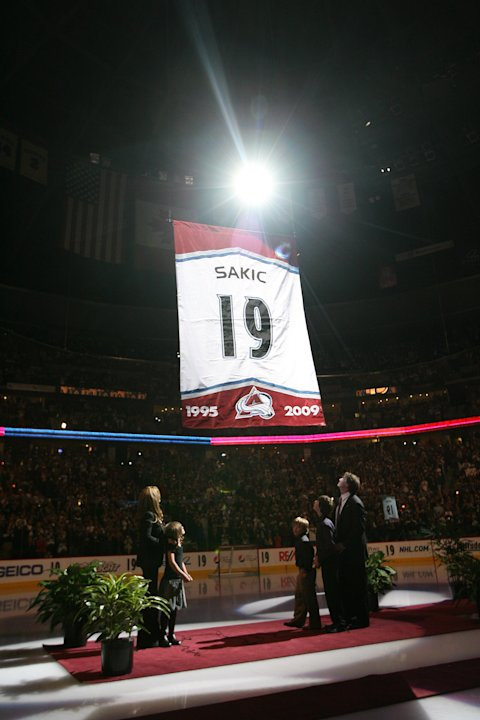 Joe Sakic banner raising