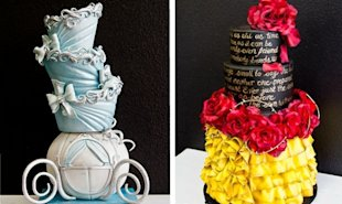 These Cinderella and Belle inspired cakes from Gimme Some Sugar are truly magical.