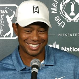 Tiger Woods discusses the sports interests of his children before the Memorial