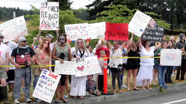 Westboro Church Protesters Confronted By Zombies