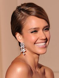 Film star Jessica Alba during the 69th annual Golden Globe Awards, January 15, 2012