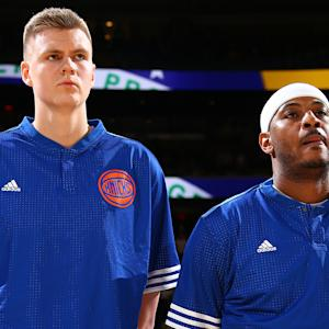 Carmelo Anthony says Kristaps Porzingis is future leader of Knicks