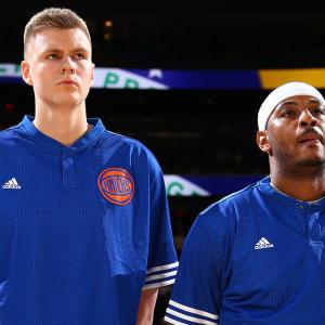 Carmelo Anthony says Kristaps Porzingis is future leader of Knicks