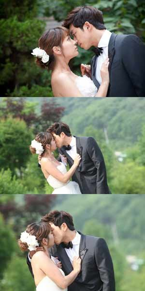 Gong Yoo and Lee Min Jung Kiss for Their Wedding